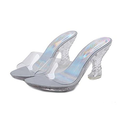 Zapatillas Grueso 36 2018 Mujer Cristal Damas Talón Plataforma Plata Verano Tamaño Con color Para Pendiente Sandalias Pu Zapatos De Nuevas Moda q6REqz1w