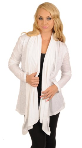 "Hot Mama Ink ""One Lucky Mother"" Long Sleeve Yoga Throw Over, White (Medium) Review"