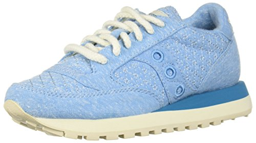 Saucony Light Blue Original en Femme Blu Jazz Beige Daim Sneakers Baskets Chaussures BRqZvrB
