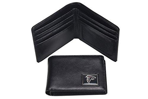 aminco NFL Atlanta Falcons Men's Leather RFID Safe Travel (Falcon Leather Wallet)