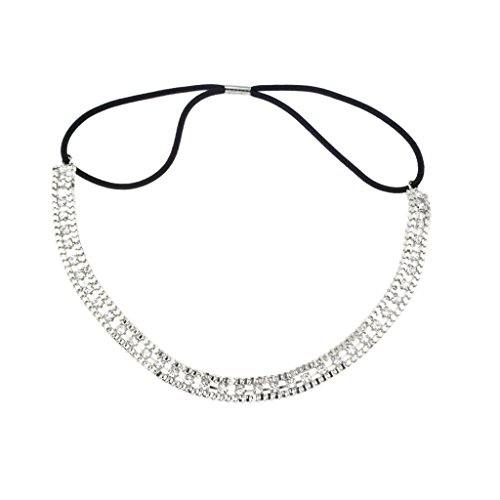 (Lux Accessories Bridal Stretch Chain Crystal Pave)