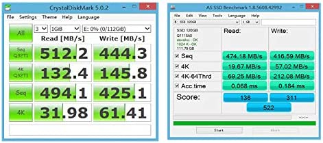 Alician Goldenfir M.2 SATA 2242 SSD Solid State Drive for Laptop Notebook Desktop 120GB