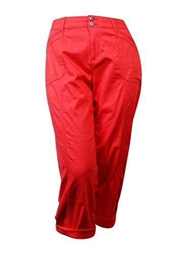 Style & Co. Women's Cuffed Hem Twill Capri (16, Aurora - Cuffed Capri Twill