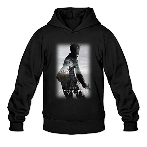 MARY Men's Psycho-Pass The Movie Cool Poster Hoodie Black