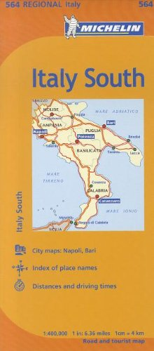 Map Of South Of Italy.Michelin Italy South Map 564 Maps Regional Michelin Michelin