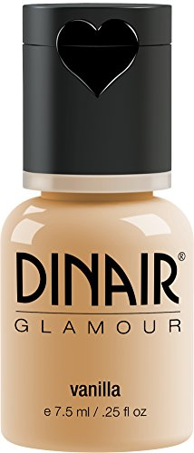 Dinair Airbrush Makeup Foundation | Vanilla | GLAMOUR: Natural, Light coverage, Matte 0.25 oz.