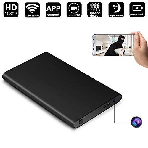 WIFI Hidden Camera Power Bank,DigiHero Power Bank with 1080P Hidden Camera -1080P WiFi Remote View - Alarm System - Can Charge Phone While Recording.Support iPhone/Android/PC