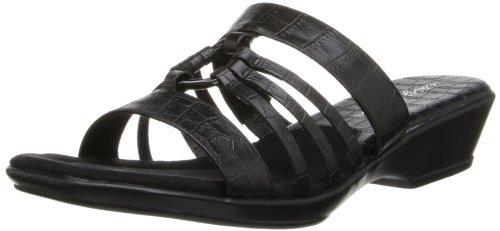 Easy Street Women's Scorch Sandal Black Crocodile IZiSLwaYc
