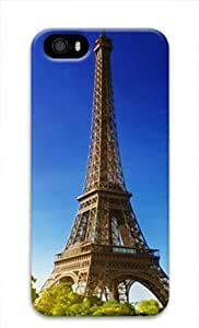 E-luckiycase PC Hard Shell Eiffel Tower Scene for Iphone 5 5s 3D Case