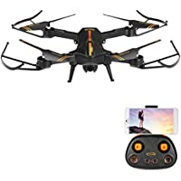 Jetblack FPV Mini RC Drone with Camera 720P HD Wi-Fi Live Video Feed 120°FOV Wide Angle 2.4GHz 6-Axis Gyro Foldable RC Quadcopter for Kids Beginners with Headless Mode One Key Return Voice Control Drone Case