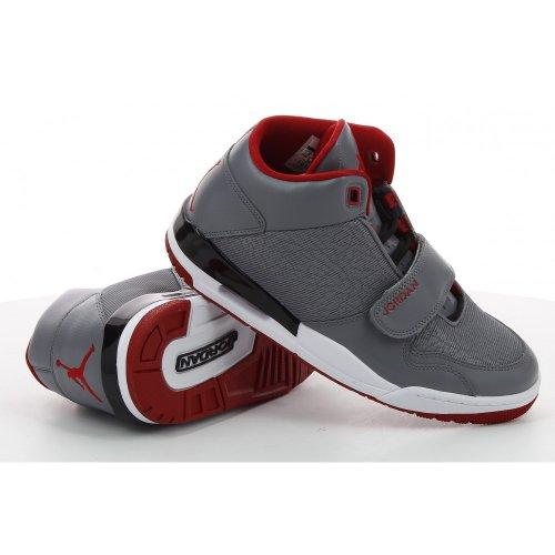 Mens Hi Top pallacanestro addestratori 602661 scarpe da tennis Nike Air Fltclb 90 (Regno Unito 8 Us Grey/Red/Black