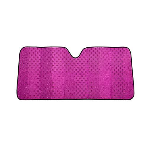 C.P.R. New Glitter Shiny Pink Polka Dots Front Windshield Sun Shade Accordion 67