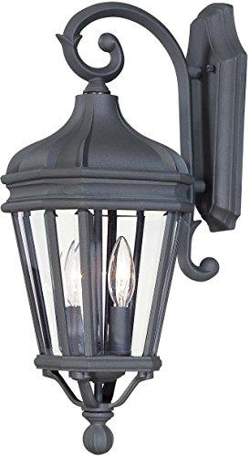 Minka Lavery Outdoor Wall Light 8691-66 Harrison Cast Aluminum Exterior Wall Lantern, 120 Watts, Black