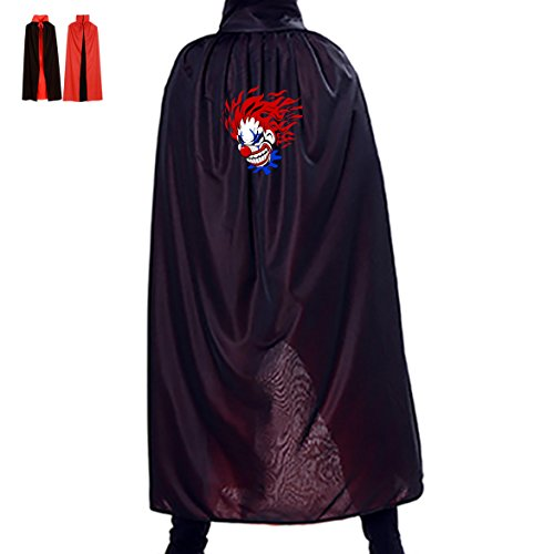 Jokers Wild Costume (Jokers Wild Halloween Wizard Cloak Cape Cosplay Party Satin for Adults & Kids)