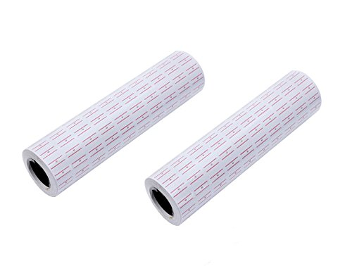 Cafolo~ 10000 (20rolls) White Red Line Tags Labels Refill MX-5500 Gun Markdown Price Sticker(10000 red line -
