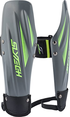 rm Guards, Plastic Arm Guards, Forearm Protection, Ski Stealth, Ski Racing Protection, Gray/Neon Green, Extended ()
