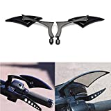 Custom Universal Motorcycle Spear Blade Rearview Mirrors for Cruiser Touring Honda Rebel 250 Shadow 600 750 VTX VT1300 1800(8mm and 10mm adapters)-Pair