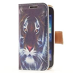YULIN Style Funda de Cuero Head Tiger con ranura para tarjetas y soporte para Samsung Galaxy Ace 3 S7270/S7275 / S7272
