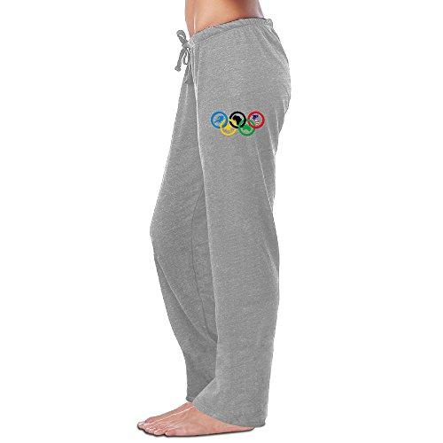 Kim Women's Workout Pants Brazil Rio De Janeiro Sport Games Ash Size (Notre Dame Irish Workout Pants)