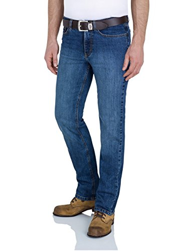 Paddock`s Herren Jeans Ranger - Slim Fit - Blau - Blue Medium Stone Used, Größe:W 40 L 36;Farbe:Blue Medium Stone Used (5921)