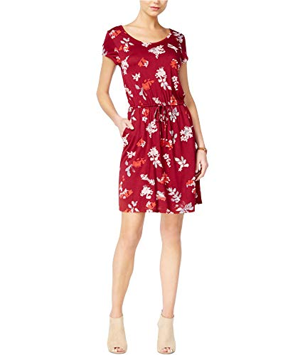Lucky Brand Women's Wildflower Dress, Merlot Multi ()