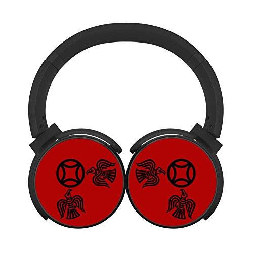 (MagicQ Viking Raven Bluetooth Headphones,Hi-Fi Stereo Earphones Black)