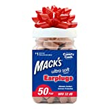 Mack's Ultra Soft Foam Earplugs, 50 Pair - 32dB Highest NRR, Comfortable Ear Plugs for Sleeping, Snoring, Work, Travel and Loud Events