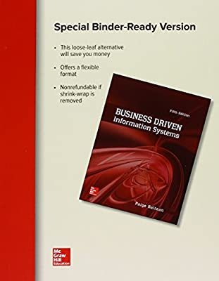Loose Leaf for Business Driven Information Systems with Connect Access Card
