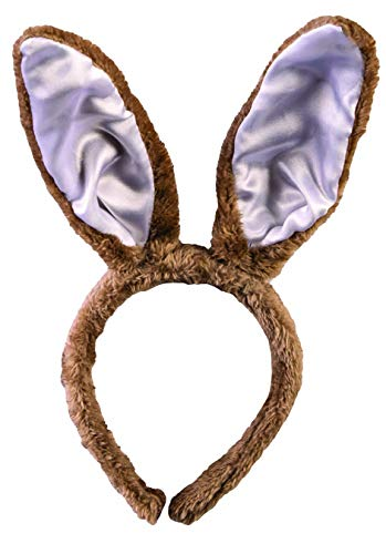 FORUM NOVELTIES LT.BROWN BUNNY EARS HEADBAND
