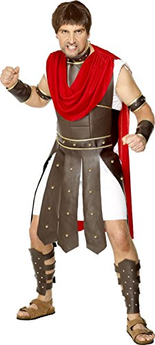 [Smiffy's Men's Centurion Costume, Robe and Legs, Arms, Wrists and Neck Armour, Legends, Serious Fun, Size M,] (Costumes Centurion)