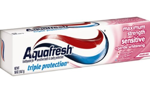 Aquafresh Sensitive Maximum Strength Toothpaste 5.6 Oz (Pack of 6)