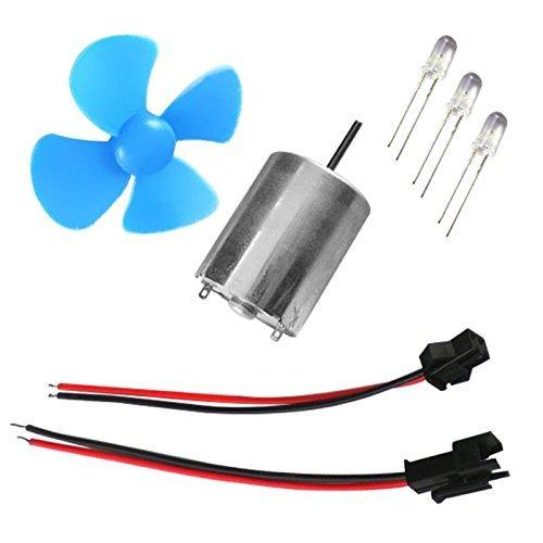 SGerste 60/mm DIY Micro Vent G/én/érateur Wind Turbines Moteur Kits de mod/èle Wind Power Outil de lenseignement