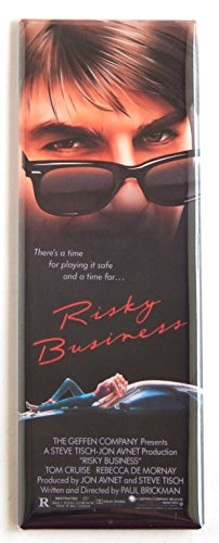 Risky Business Movie Poster Fridge Magnet (1.5 x 4.5 inches)