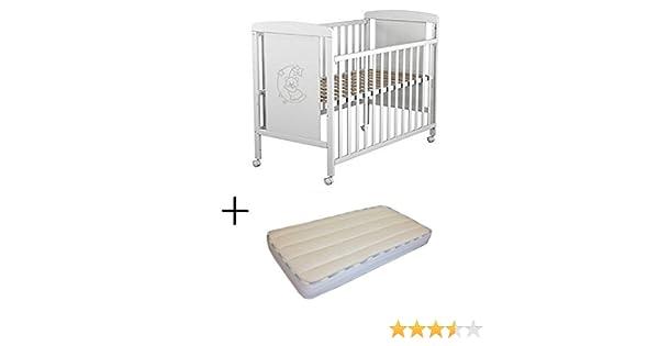 Cuna para bebé, modelo Oso Dormilón + Colchón Viscoelástica + Protector impermeable de colchón para bebés BaByBed: Amazon.es: Bebé