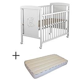 Cuna Bebé + Colchón y Protector