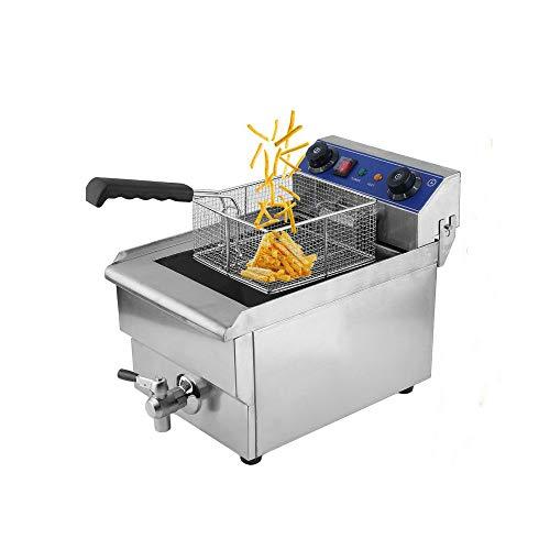 - Belovedkai Electric Deep Fryer, 13L/26L Stainless Steel Commercial Electric Deep Fat Fryer Temperature Control Timing Fryer with Drain & Basket,Single Tank/Dual Tank (13L Single Tank)