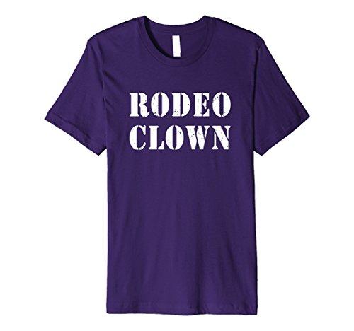 Rodeo Clown Costume (Mens Rodeo Clown Halloween T-Shirt Large Purple)