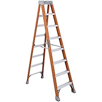 Louisville Ladder 8-Feet Fiberglass Step Ladder, 300-Pound Capacity ...
