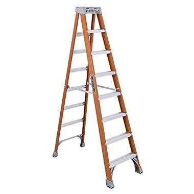 Louisville Ladder FS1508 300-Pound Duty Rating Fiberglass Ladder, 8-Feet