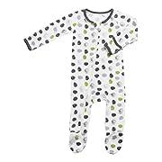 BESTAROO Baby Green Dots Zippered Footie 3-6m