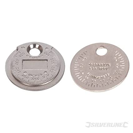 Herramientas para bujías Gap, 0,5 - 2,55 mm/0,02 - 0,1-inch, monedas-tipo ...
