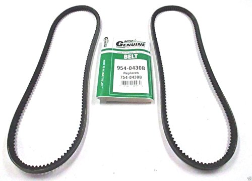 Genuine MTD 954-0430B Set of 2 Cogged Auger Belts Replaces 754-0430B OEM __#powered_by_moyer