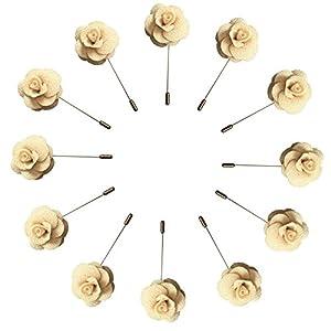 WeddingBobDIY 12Pieces/lot Groom Boutonniere Wedding Flowers Accessories Prom Pin Man Suit Decoration 110