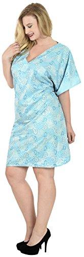 Casual Top Signore Leela Spiaggia Abito Costume Maxi Donne Caftano Blu Tunica Bagno Breve f837 La Sundress Da Poncho Rayon Costumi Boho Coprire Kimono FadqwxwR87