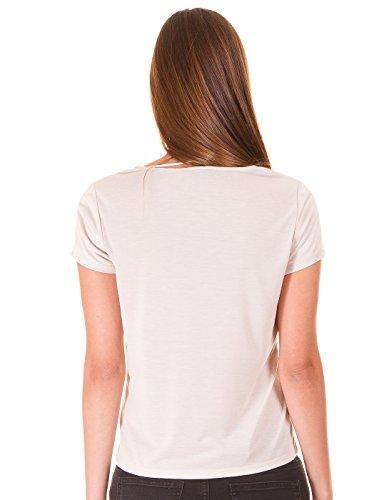Camiseta ante pico de Vila Clothes Beige