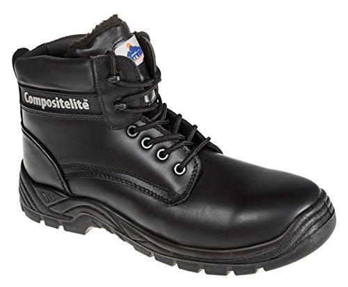 Portwest FC12 - Alineado piel Thor Bota S3 48/13, color Negro, talla 48 Negro