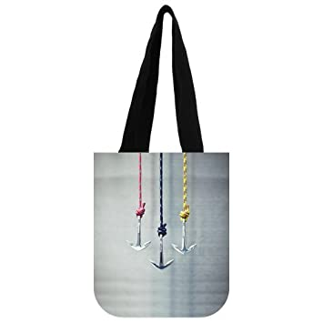2fa0fd0735e2 Anchor Canvas Everyday Tote Bags, Stylish Anchors ... - Amazon.com