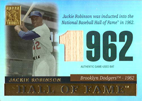 2004 Topps Tribute Relics #TR-JR Jackie Robinson Game Used Bat Baseball Card