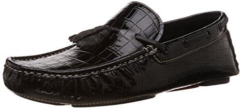 BATA Men's Nick Black Leather Loafers