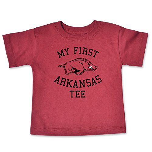NCAA Arkansas Razorbacks Infant Short Sleeve Tee, 6 Months, Cardinal